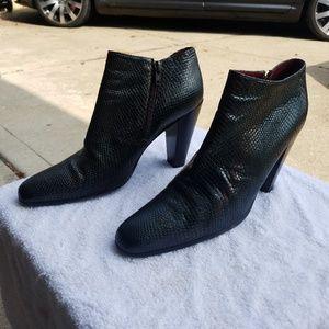 DKNY Pewter Snake Skin Women's Boots